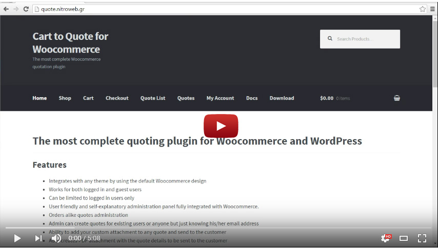 Cart to Quote for Woocommerce 1